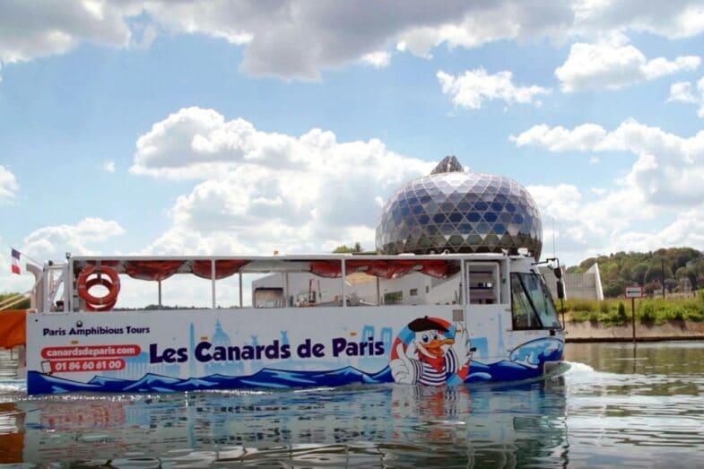 Marcel le Canard bus amphibie Paris
