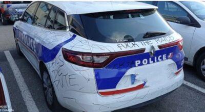 Fuck la police voiture de police