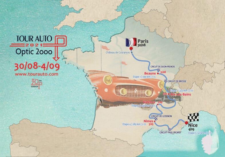 itinéraire Tour Auto 2021