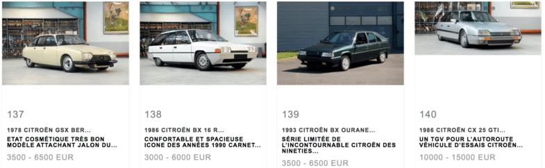 Citroën Vente Aguttes L'Aventure Peugeot Citroën