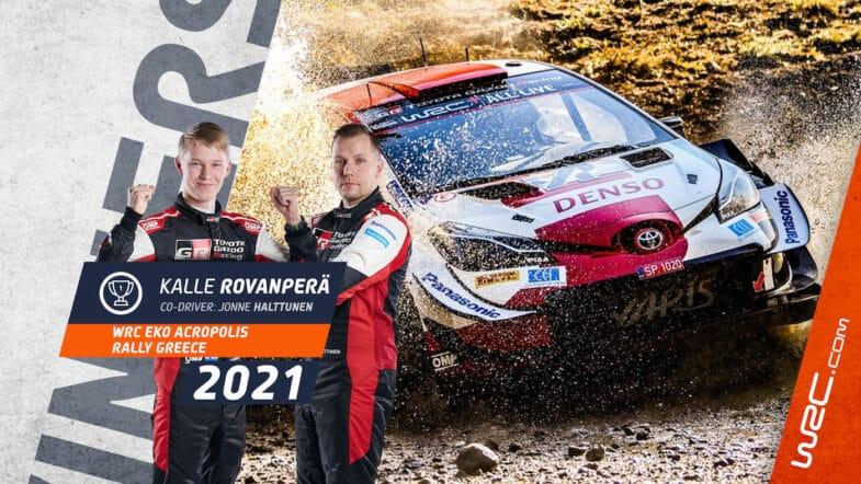 Kalle Rovanpera WRC Rallye de l'Acropole Grè