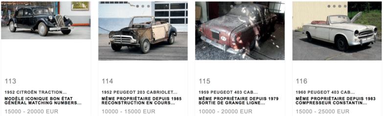 Sortie de grange Vente Aguttes L'Aventure Peugeot Citroën